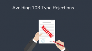 Avoiding 103 type rejection PQAI