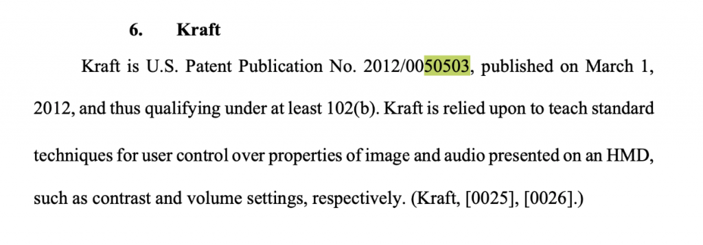 Prior art snapshot from IPR document